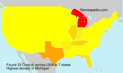 Surname Ozdych in USA