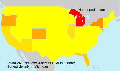Surname Ozimkowski in USA