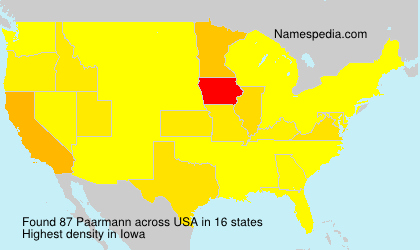 Surname Paarmann in USA