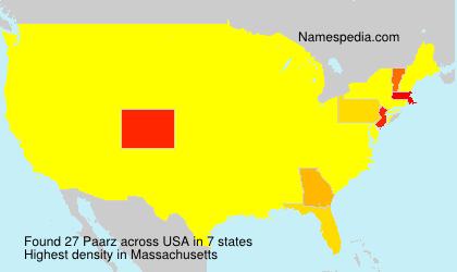 Surname Paarz in USA