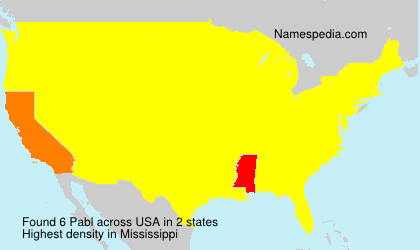 Surname Pabl in USA