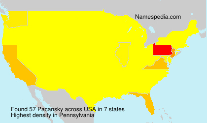Surname Pacansky in USA