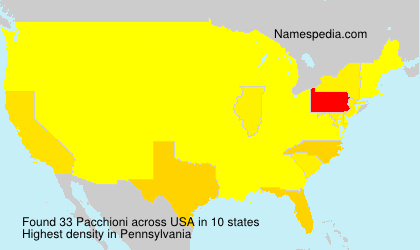 Surname Pacchioni in USA