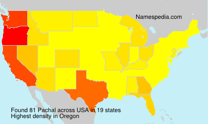 Surname Pachal in USA