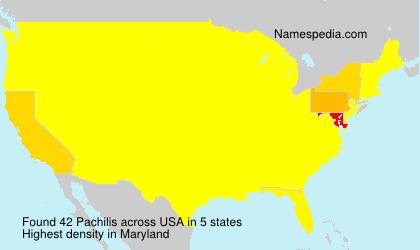 Familiennamen Pachilis - USA