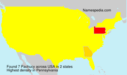 Surname Pachucy in USA