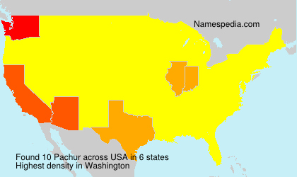 Surname Pachur in USA