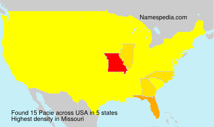 Surname Pacie in USA