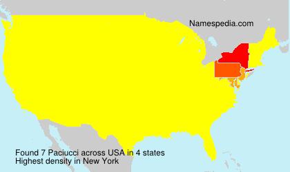 Familiennamen Paciucci - USA