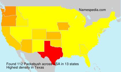 Surname Packebush in USA
