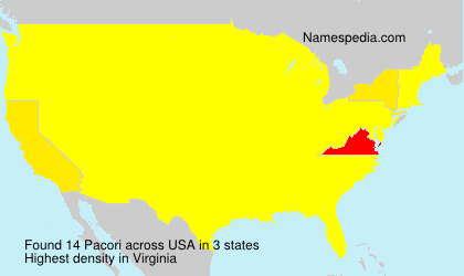 Surname Pacori in USA