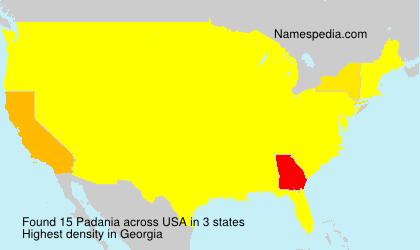 Surname Padania in USA