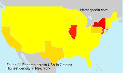 Surname Paderon in USA