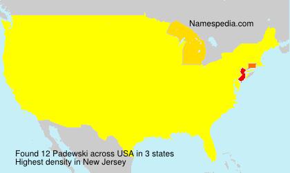 Surname Padewski in USA