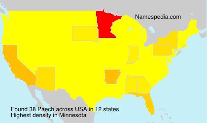 Familiennamen Paech - USA