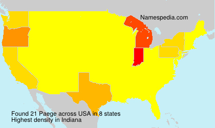 Surname Paege in USA