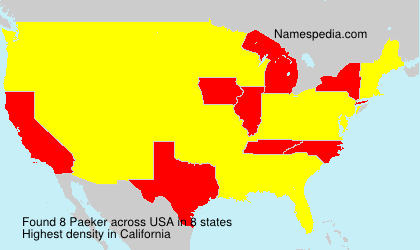 Surname Paeker in USA