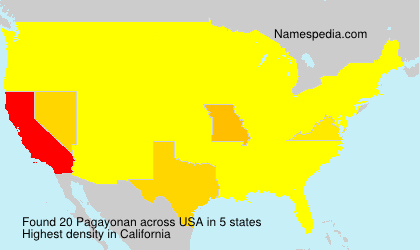 Surname Pagayonan in USA