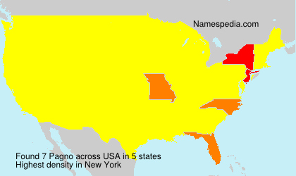Surname Pagno in USA