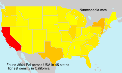 Surname Pai in USA