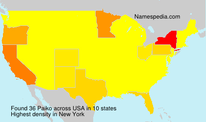 Surname Paiko in USA