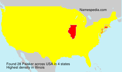 Surname Paisker in USA