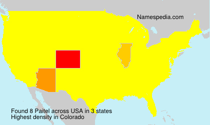 Surname Paitel in USA
