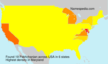 Surname Pakhchanian in USA
