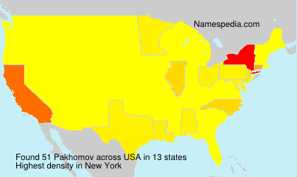 Surname Pakhomov in USA