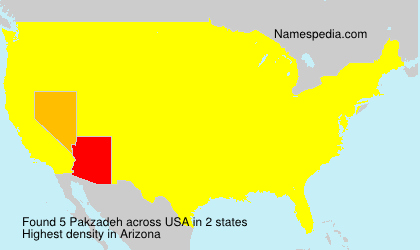 Surname Pakzadeh in USA