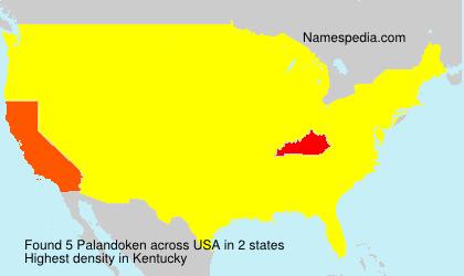 Familiennamen Palandoken - USA