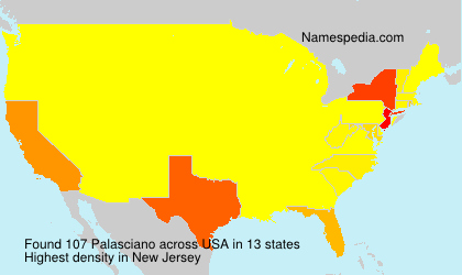Surname Palasciano in USA