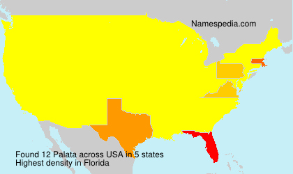 Surname Palata in USA