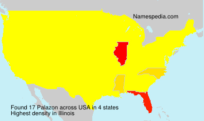 Surname Palazon in USA