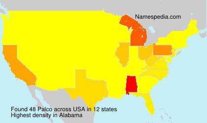 Surname Palco in USA