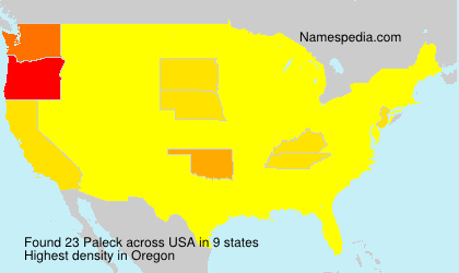 Surname Paleck in USA
