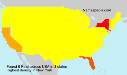 Surname Palef in USA