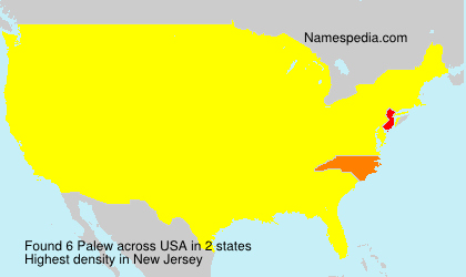 Surname Palew in USA