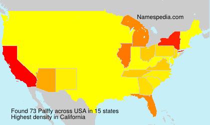 Familiennamen Palffy - USA