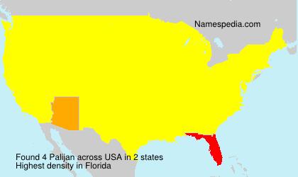 Familiennamen Palijan - USA