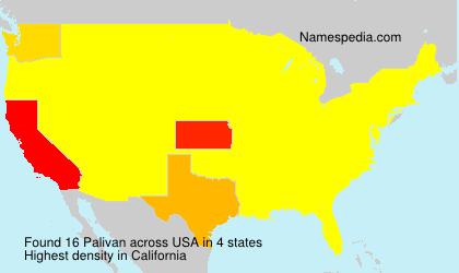 Surname Palivan in USA