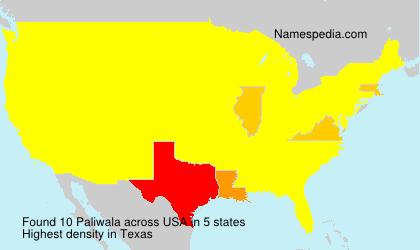 Surname Paliwala in USA