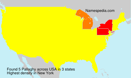 Surname Pallaghy in USA
