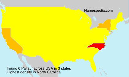 Surname Pallauf in USA