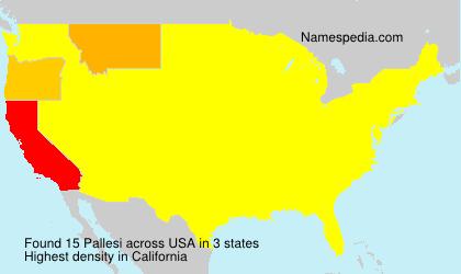 Surname Pallesi in USA
