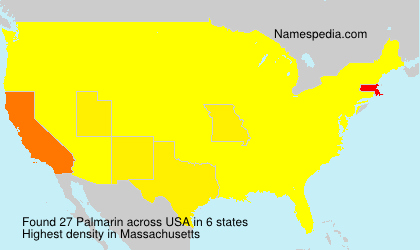 Surname Palmarin in USA