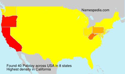 Familiennamen Palotay - USA