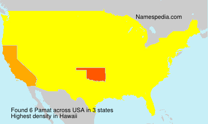 Surname Pamat in USA