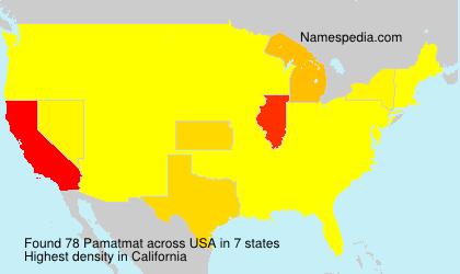 Familiennamen Pamatmat - USA