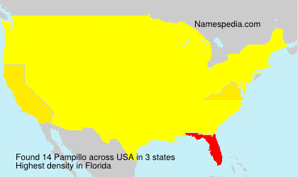 Surname Pampillo in USA